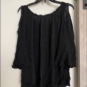 New black cold shoulder top